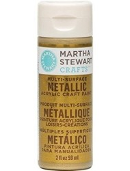 Martha Stewart Crafts Multi-Surface Metallic Acrylic Craft Paint-Asst- 2oz