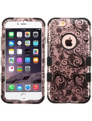 MYBAT Apple iPhone 6 Plus / 6S Plus  Case,Phoenix Flower (RoseGold/Black)
