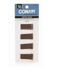 Conair Styling Essentials Mini Pins, Brown.