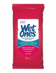 Wet Ones Antibacterial Hand Wipes, 20 Count