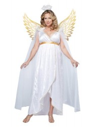 California Costumes Women's Guardian Angel Plus, White, 1X