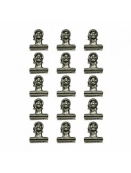 TH92692 Metal Hinge Clips, 1-Inch, Pack of 15, Antique Nickel Finish