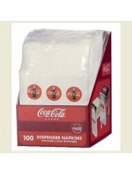 Tablecraft CC326 Coca-Cola Napkins (100 Pack), Half, Red