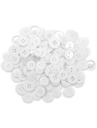 Blumenthal Lansing Favorite Findings Basic Buttons Assorted Sizes, 130/Pkg, White
