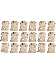 "Kangaroo's 12"", Natural Color Large 100% Cotton Canvas Tote Bags (18 Pack)"