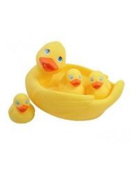 Rubber Duck Family Bath Set (Set of 4) - Floating Bath Tub Toy (Set of 4)