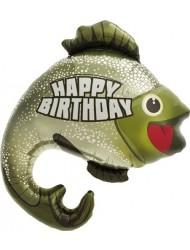 Birthday Bass Helium Foil Balloon - 32 inch