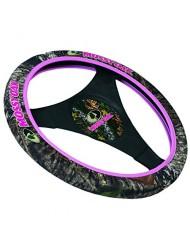 Mossy Oak Pink Trim Neoprene Steering Wheel Cover (Mossy Oak Break-Up Camo, Stretchy Neoprene, Sold Individually)