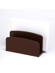 "C.R. Gibson Bonded Leather, Letter Sorter by Markings, Measures 7.75"" W x 4"" - Brown"