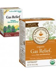 Traditional Medicinals Caffeine Free Digestive Tea Bags Gas Relief - 16 ct