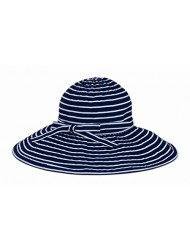 San Diego Hat Company Upf 50+ Striped Ribbon Sun Hat (navy/white)