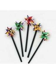 Mini Plastic Two-Tone Pinwheels (6 dz) by Fun Express