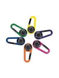 Plastic Compass Clips (1 dozen) - Bulk [Toy]
