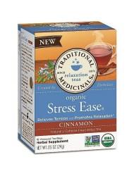 Traditional Medicinals - Organic Stress Ease Tea Cinnamon - 16 Tea Bags