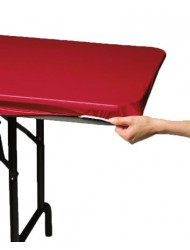 Creative Converting Plastic Stay Put Banquet Table Cover, 29 by 72-Inch, Regal Red