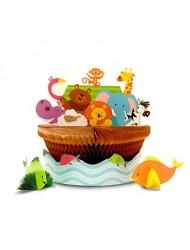 Noah's Ark Honeycomb Centerpiece Set