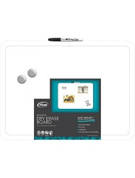 "Board Dudes 17"" x 23"" Plastic Frame Magnetic Dry Erase Board with Marker and Magnet (CXT41)"