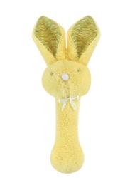 Stephan Baby Fuzzy Bunnie Rattle, Yellow