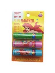 """Lip Smacker """"Sun Smacker"""" Lip Balm ~ Disney Ariel - 1 Pack of 3"""