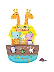 "Betallic Noahs Ark Welcome Baby Shape, 37"", Multicolor"