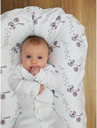 Snuggle Me Organic The Original Co-Sleeping Baby Bed, Infant Lounger, Portable Crib and Bassinet Mattress Pad for Newborn to 6 Months - WHISPER
