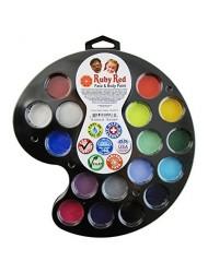 Ruby Red Paint, Inc. Face Paint, 2ML X 16 Colors - Artist Palette