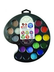 Ruby Red Paint, Inc. Face Paint, 2ML X 16 Colors & 18ML X 2 Colors - Artist Palette