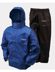 Frogg Toggs Men's All Sports Rain and Wind Suit, Royal Blue/Black Pants, Medium