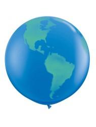 "2 X 36"" Globe World Planet Earth Latex Balloon - Latex Balloon Foil"