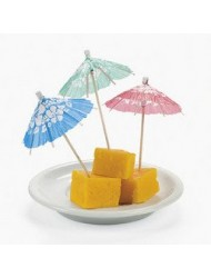Fun Express Box of 144 Cocktail Drink Hawaiian Paper Parasol Umbrella Picks