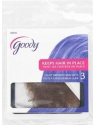 Goody Hair Nets - 3 Count - Light Brown