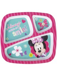 Zak Minnie Mouse 3 Section Tray (Discontinued by Manufacturer)