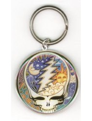 Dan Morris - Grateful Dead Celestial Night Day Steal Your Face - Metal Keychain