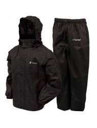 Frogg Toggs Men's All Sports Rain and Wind Suit, Black, Large