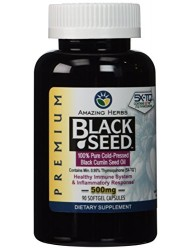 Amazing Herbs Black Seed Oil 90 Softgel Capsules, 500 mg
