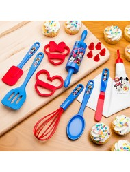 Zak Designs MMON-S100 Mickey & Minnie 3 Piece Kids Baking Set for Cookies, Decorated