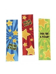 "12 ~ Satin You're a Star! Award Ribbons ~ Approx. 7"" X 1 7/8"" ~ New"