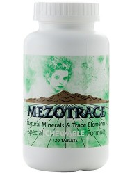 Mezotrace 1300 Special Chewable Formula Natural Minerals and Trace Elements, 120 Count