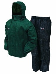 Frogg Toggs Men's All Sports Rain and Wind Suit, Green/Black, Small