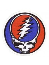 "Grateful Dead - Steal Your Face - Embroidered Iron on Patch - 3"" x 3"""