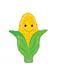"""ONE 27"""" CORN on the COB new BALLOON party FOIL produce pals FARMER's MARKET veggie FARM stand"""