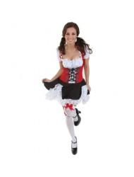 Underwraps Women's Beer Maiden, Black/Red/White, Small