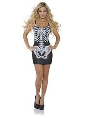Underwraps Costumes Women's Sexy Skeleton Costume - Bones, Black/White, X-Large