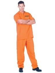 Underwraps Men's Plus-Size Public Offender, Orange, XX-Large