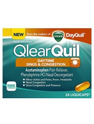 Vicks QlearQuil Daytime Cold and Allergy Sinus and Nasal Decongestant Liquicaps, 24 Count