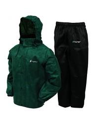 Frogg Toggs AS1310-1093X All Sports Rain & Wind Suit, Dark Green/Black