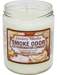 Odor Exterminator Candle Creamy Vanilla 13oz by Smokers Candle