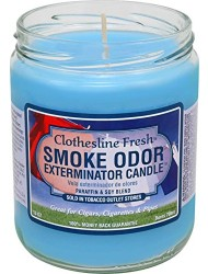 Smoke Odor Exterminator 13oz Jar Candle, Clothesline Fresh