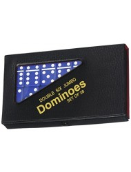 Double 6 Jumbo Dominoes - Blue