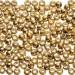 Pony Beads, Metallic Bright Gold, 6 x 9mm, 1000pc Pkg